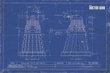 Doctor Who - Dalek Blueprint Plakat