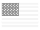 America, The White Kunstdrucke
