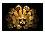 Inca Sun God Mask Print