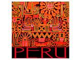 Peru - Inca Design Pattern Pósters