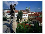 Mala strana Baroque garden, Prague, Central Bohemia, Czech Republic Poster