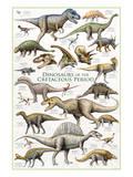 Dinosaurs, Cretaceous Period Kunstdrucke