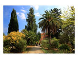 Path at Hanbury Botanic Gardens near Ventimiglia, Province of Imperia, Liguria, Italy Posters