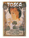 Puccini, Tosca Poster by Leopoldo Metlicovitz