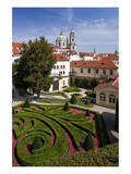 Baroque Garden of Vrtba Palace at Prague Lesser Town, Central Bohemia, Czech Republic Posters