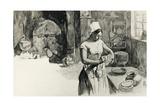 Illustration for Story of a Farm Girl Reproduction procédé giclée par Guy De Maupassant