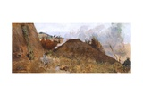 Charcoal Pit in the Landscape, 1880-1885 Giclee Print by Niccolo Cannicci