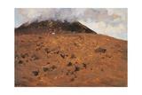 On Slopes of Vesuvius, 1871 Giclee Print by Giuseppe De Nittis