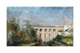Castelviel Viaduct in Albi, 1880 Lámina giclée por Henri de Toulouse-Lautrec