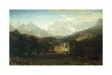 Rocky Mountains, Lander's Peak Giclée-tryk af Albert Bierstadt