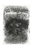 Illustration for the Novel Les Travailleurs De La Mer, 19th Century Giclée-Druck von Daniel Urrabieta Vierge