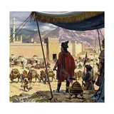 Genghis Khan Decided That Caracorum Would Be His Capital Giclée-tryk af Alberto Salinas