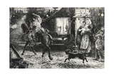 Traveler, Engraving from Painting Giclee Print by Ford Madox Brown