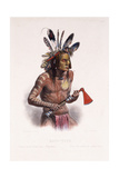 Mato-Tope, Adorned with the Insignia of His Warlike Deeds, 1844 Stampa giclée di Karl Bodmer
