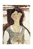 Study for Portrait of Beatrice Hastings Giclee Print by Amedeo Modigliani