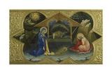 Nativity, Scene from Predella of Coronation of Virgin Giclée-tryk af Lorenzo Monaco