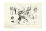 "A Reminiscence, Mr Arthur Roberts in the Burlesque of ""Joan of Arc"" Giclee Print by Phil May"