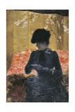 Woman on Red Sofa, 1876-1878 Giclee Print by Giuseppe De Nittis