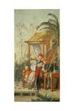 A Chinese Garden, Study for a Tapestry Cartoon, C.1742 Reproduction procédé giclée par Francois Boucher