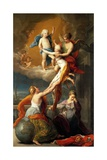 Allegory for the Death of Ferdinand IV's Two Children Giclée-tryk af Pompeo Batoni