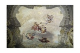 Apollo Crowning Painting, 1761 Giclée-tryk af Vittorio Maria Bigari