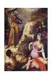 Moses Breaking the Tablets of the Law Giclee Print by Domenico Beccafumi