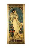 A Poster for Sarah Bernhardt's Farewell American Tour, 1905-1906, C.1905 Reproduction procédé giclée par Alphonse Mucha