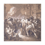 President Mole Returning from the Palais-Royal During the Fronde Giclée-Druck von Francois Andre Vincent