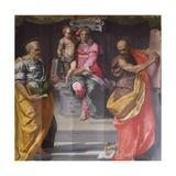 Madonna and Child Between Saints Peter and Paul Giclée-Druck von Daniele Da Volterra