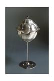 Silver Goblet with Silver Cover and Semiprecious Stones Reproduction procédé giclée par Koloman Moser