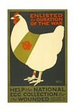 Enlisted for Duration of the War, Pub. London, C.1915 Giclee Print
