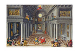The Triumph of the Church or an Allegory of Christianity Giclée-Druck von Hans Or Jan Vredeman De Vries