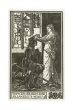 Elaine Ties Her Sleeve Round Sir Lancelot's Helmet Lámina giclée por Henry Justice Ford