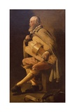 Hurdy-Gurdy Player with Bag Giclee Print by Georges de La Tour