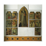 Altarpiece of Blessed Humility Giclée-tryk af Pietro Lorenzetti