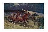 The Royal Horse Artillery Drive at the Searchlight Tattoo Reproduction procédé giclée par William Barnes Wollen