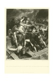 Rear Admiral Nelson's Conflict in His Barge with a Spanish Launch Giclee Print by Richard Westall