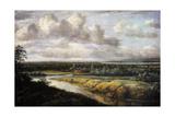 Landscape with a River, 1650-1655 Giclee Print by Phillips de Koninck