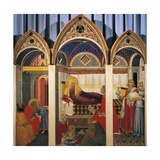 Triptych of the Nativity of the Virgin, 1342 Giclée-tryk af Pietro Lorenzetti