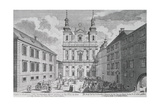 View of the Jesuitenkirche and Dr-Ignaz-Seipal-Platz in Vienna Giclee Print by Salomon Kleiner