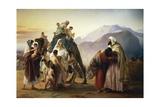Reconciliation of Esau with Jacob, 1844 Giclee Print by Francesco Hayez