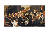 Banquet of Officers of Civic Guard of St George at Haarlem Giclee Print by Frans Hals