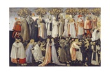 Paradise, Detail from Last Judgment, 1460-1465 Giclée-tryk af Giovanni di Paolo