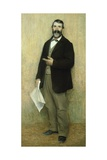 Portrait of His Father, 1889-90 Giclee Print by Giuseppe Pellizza da Volpedo