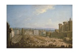 Festival of the Four Altars in Naples, Ca 1757 Giclée-tryk af Antonio Joli
