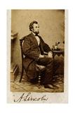 A Signed Carte-De-Visite Photograph of Abraham Lincoln, 1861 Giclée-tryk af Alexander Gardner