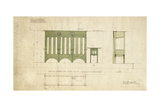 Design for Benches and a Table, Shown in Elevation and Section Plan, 1898 Giclee Print by Charles Rennie Mackintosh