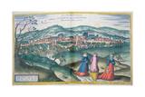 Map of Claudiopolis, from 'Civitates Orbis Terrarum' by Georg Braun Giclee Print by Joris Hoefnagel