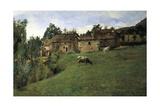 Pasture in Pietramala, 1889 Reproduction procédé giclée par Telemaco Signorini
