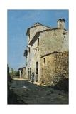 Around Florence, Rustic Houses Reproduction procédé giclée par Telemaco Signorini